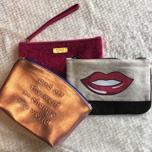 Set Of 3 New With Out Tags Make Up Bags By Ipsy